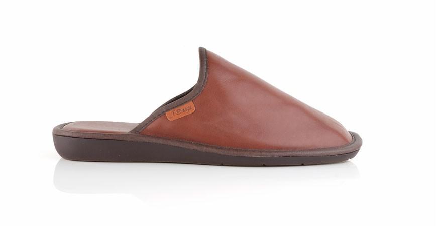 Zapatillas de casa de Piel hechas a mano y con piso especial para el parquet